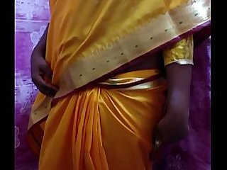 Desi Hot Wife Stripping In Weak-kneed Saree