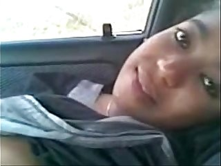 Indian Hot Youngster Girls fuck BF at car - Wowmoyback