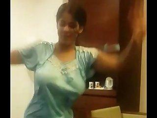 Indian Wife Dancing in hotel region