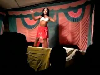 Desi bhabhi dances nude on stage in public