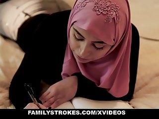 FamilyStrokes  Pakistani Wife Rides Bushwa In Hijab
