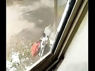 Indian Bhabhi Alfresco with stranger
