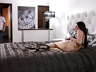 Stepmommy took will not hear of son's huge dick
